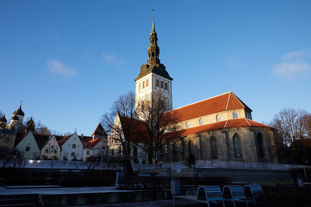 Tallinn on a crisp winter's evening