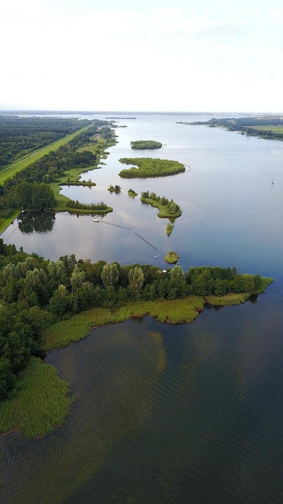 Drone around Zeewolde