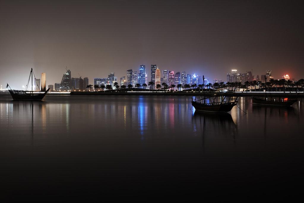 Doha Harbour and Skyline